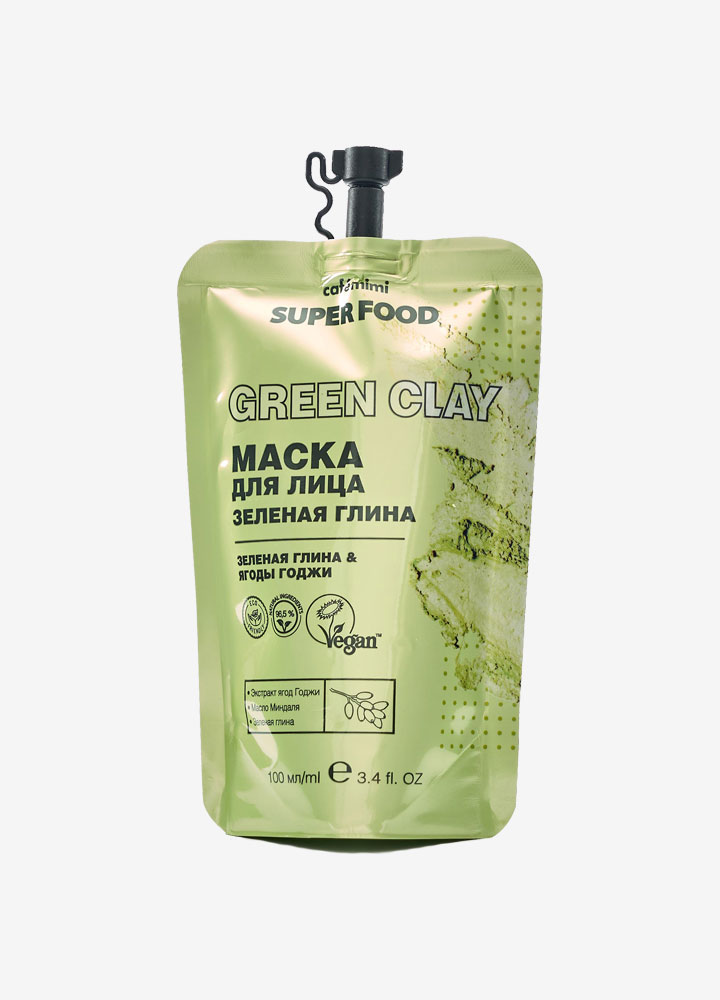 Super Food Face Mask with Green Clay & Goji