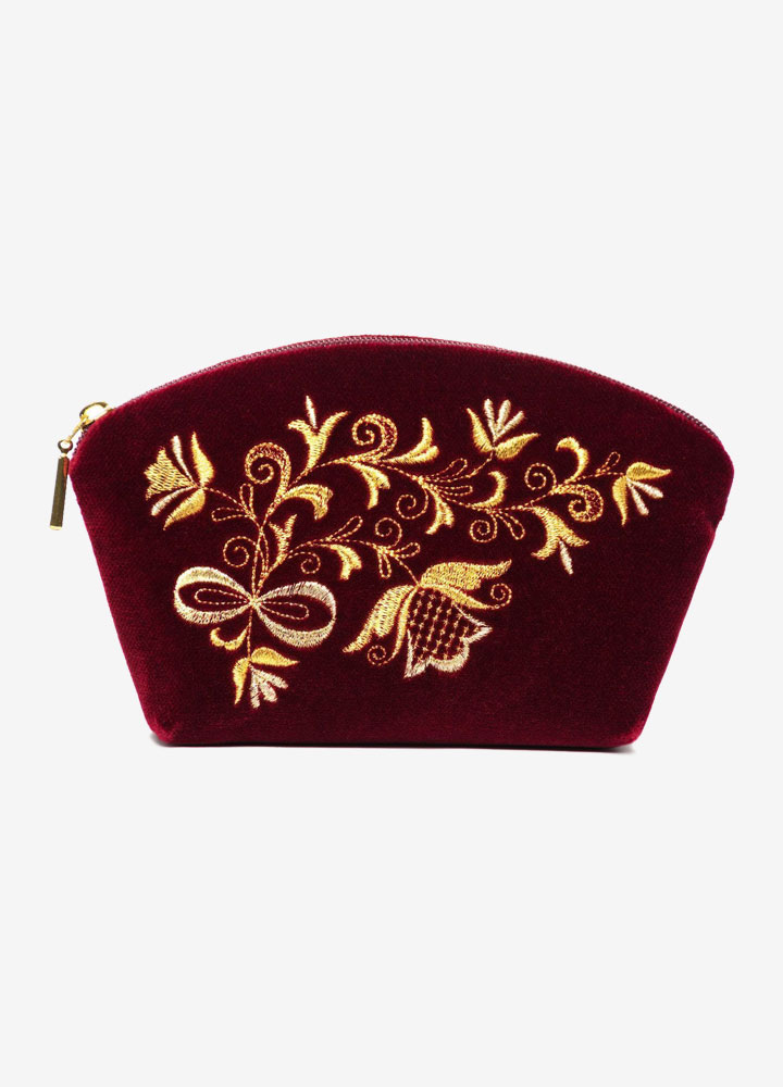 """The Bouquet"" Velvet Cosmetics Bag"