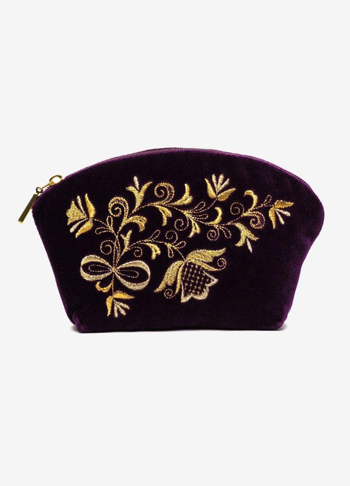 """The Bouquet"" Velvet Cosmetics Bag"