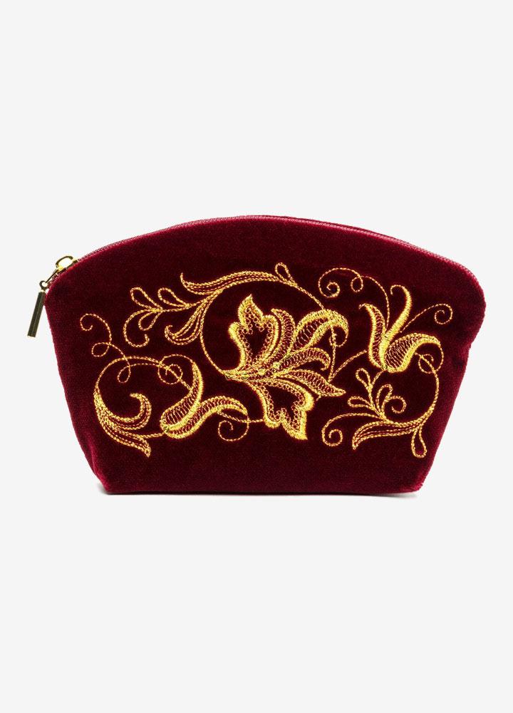 """The Romance"" Velvet Cosmetics Bag"