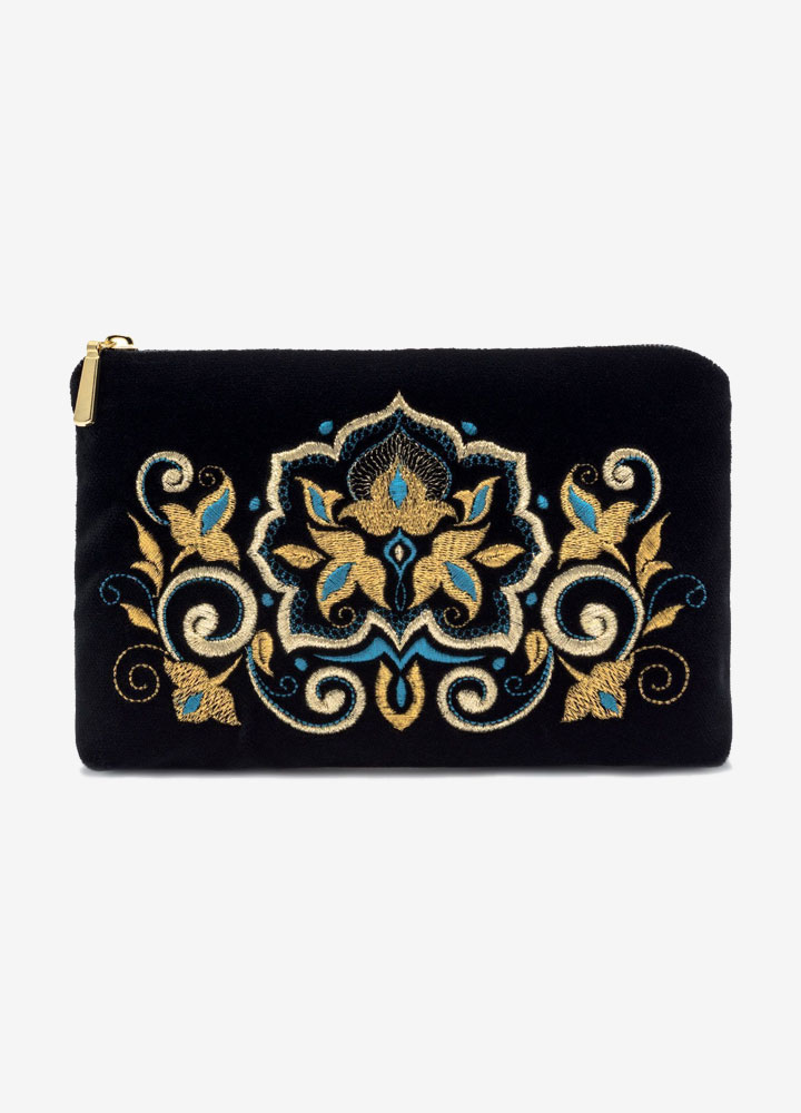 """The Stone Flower"" Velvet Cosmetics Bag"