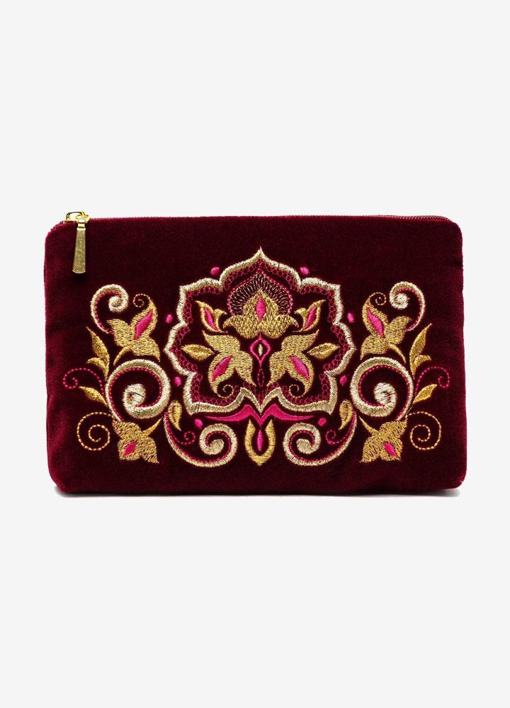 """""""The Stone Flower"""" Velvet Cosmetics Bag"""