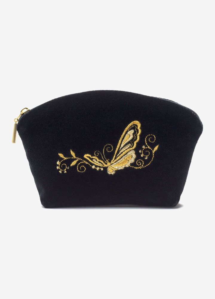 """The Butterfly"" Velvet Cosmetics Bag"