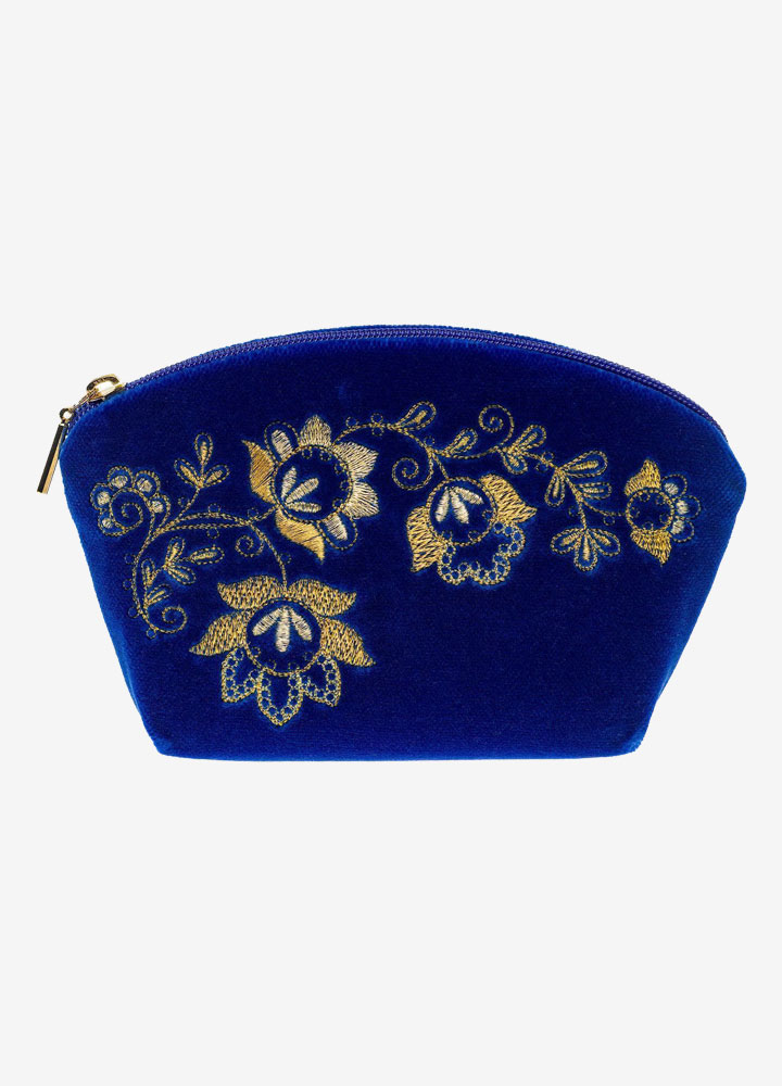 """The Spring Mood"" Velvet Cosmetics Bag"