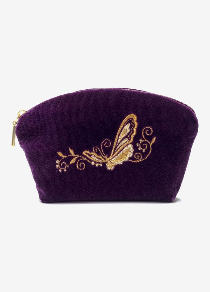 """""""The Butterfly"""" Velvet Cosmetics Bag"""